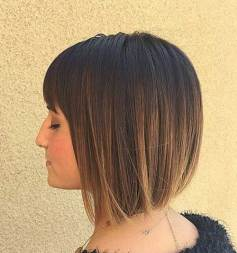 Short Bob Haircuts With Bangs For Women